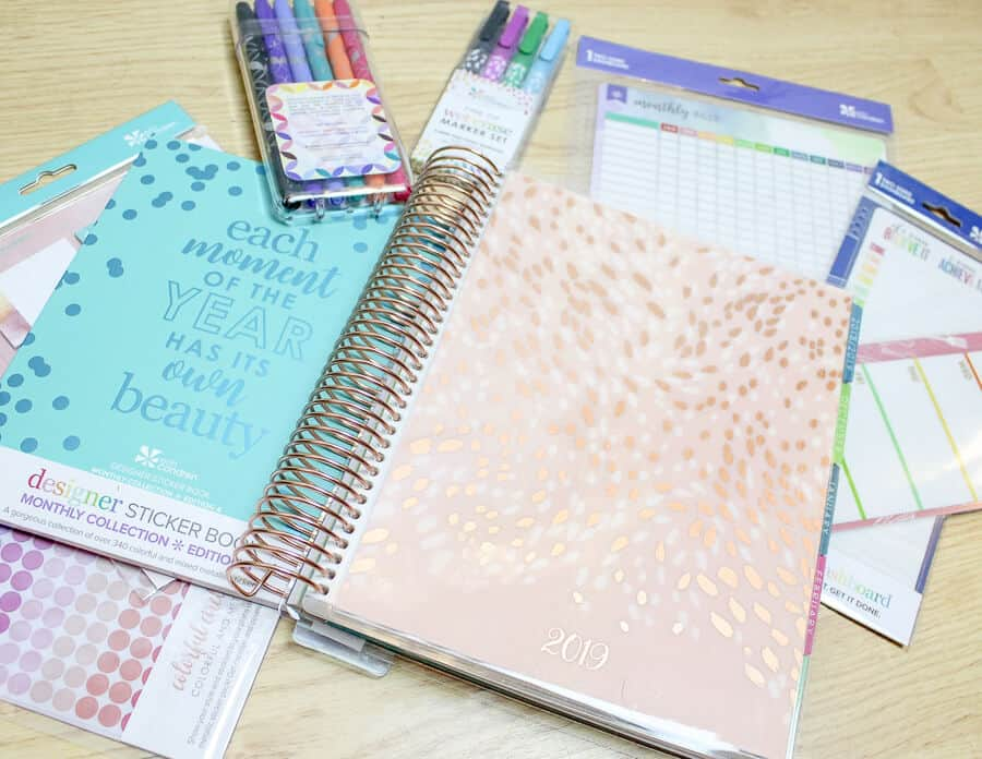 erin condren planner supplies