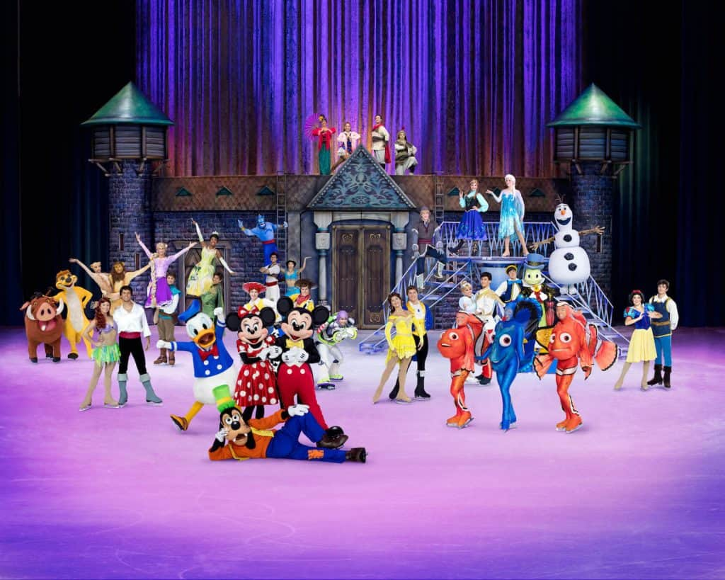 Disney characters perform at Disney on Ice.
