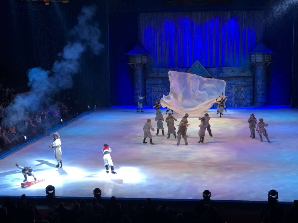 Ice skaters perform during Disney on Ice.