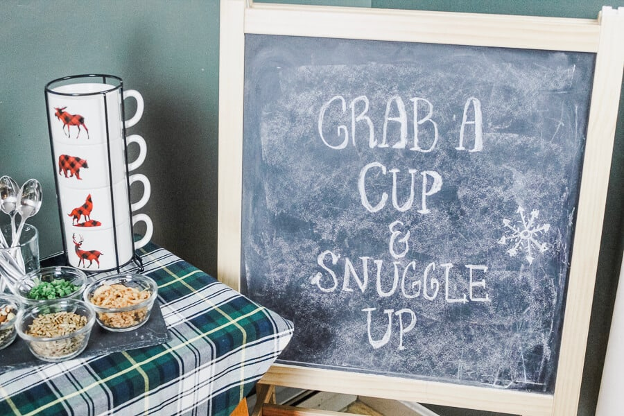Easy Soup Party Ideas: Chalkboard Sign