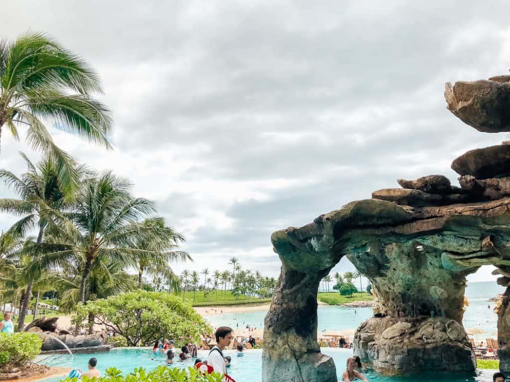 People play at Disney water park in Hawaii.