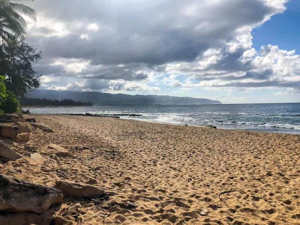 North Shore beach in Oahu Hawaii.