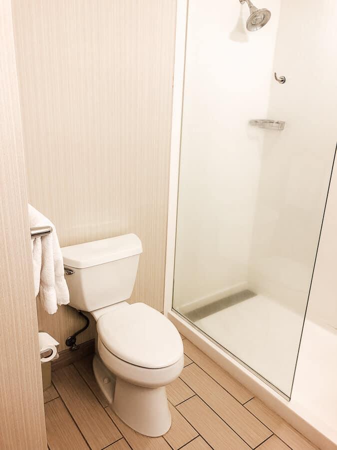 Hotel bathroom in Hawaii.