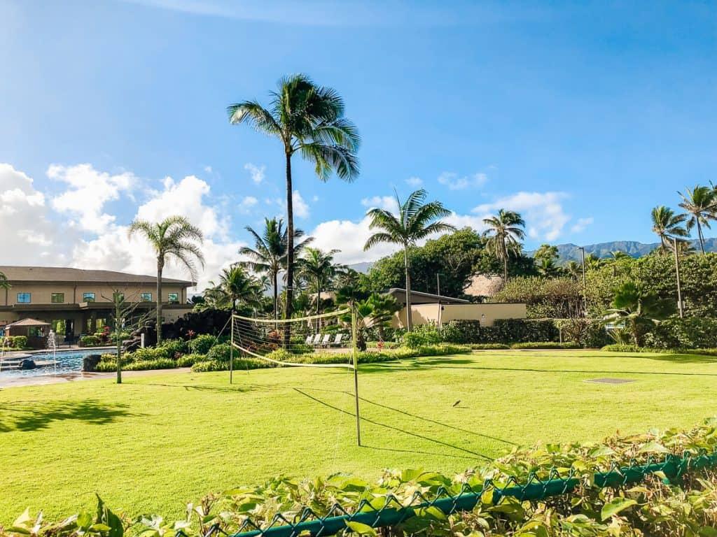 Hawaii hotel grounds.