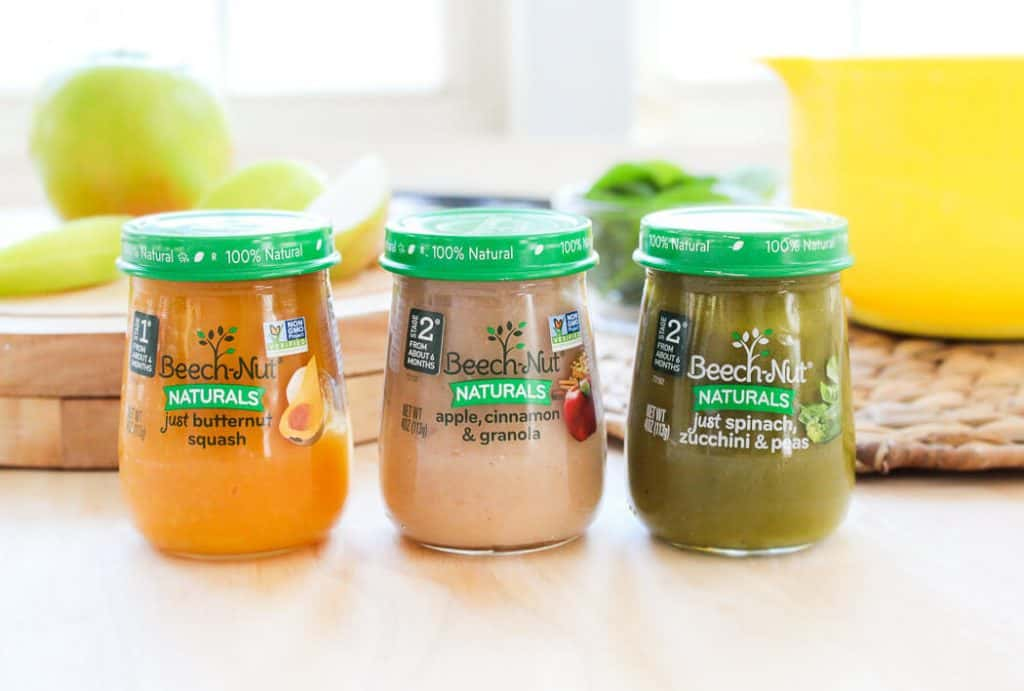 Beech nut baby food jars for baby led weaning.