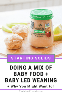 Pinnable image of baby led weaning tips.