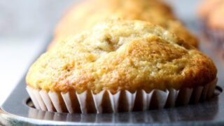 Easy Banana Bread Muffins Made with Greek Yogurt