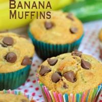 Whole Wheat Zucchini Banana Muffins