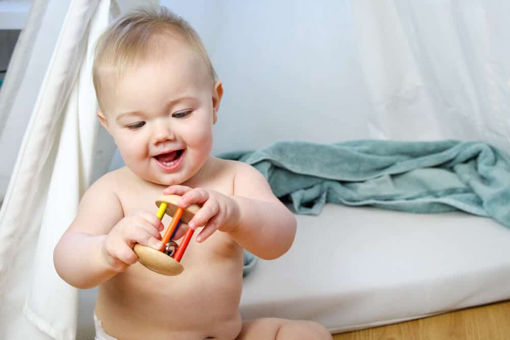 Baby with Toy