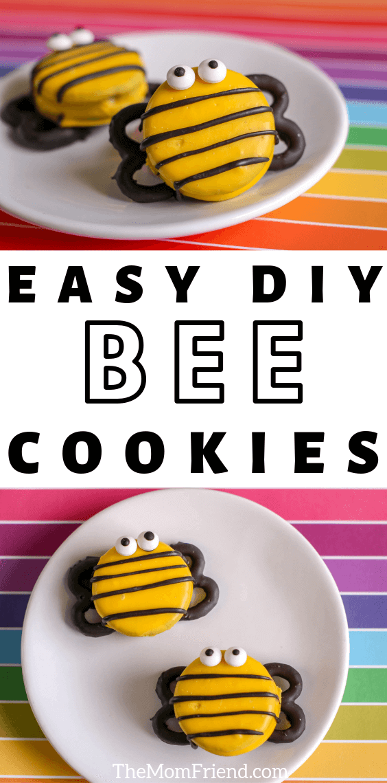 Bee decorated oreo cookies
