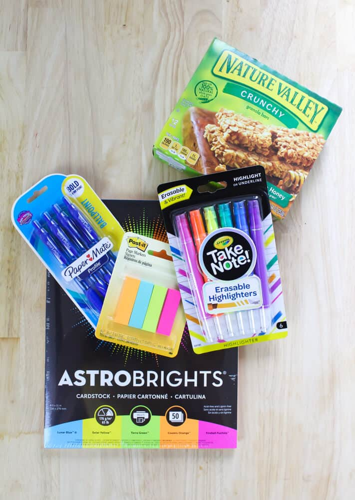 Walmart products bought during teacher appreciation event.