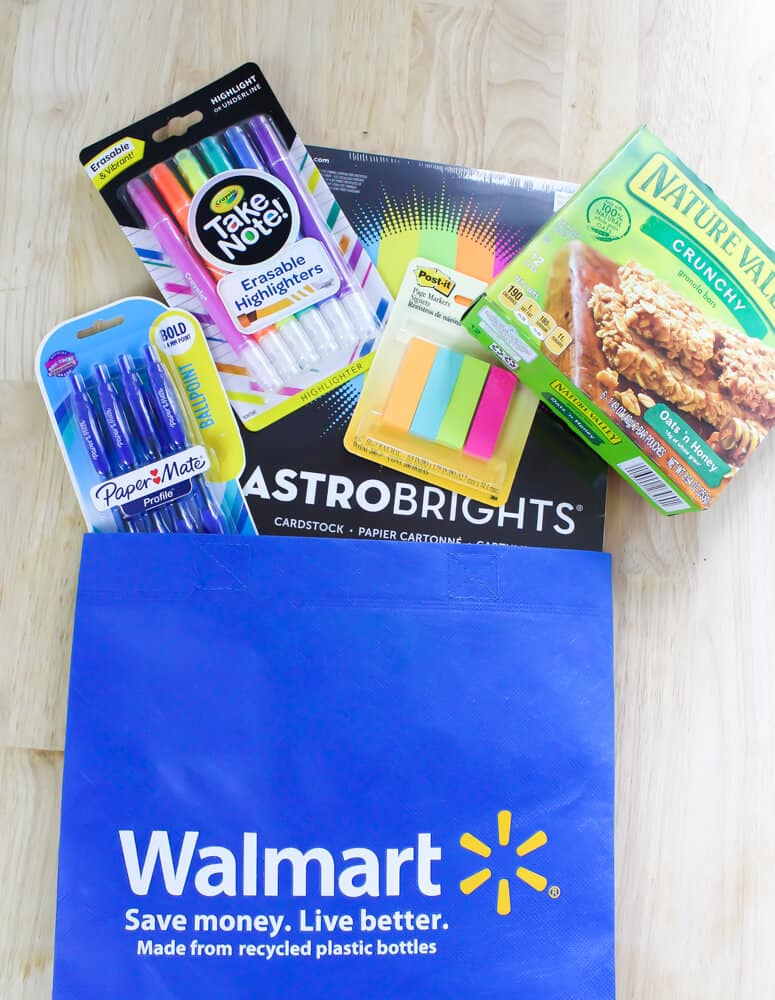 Walmart items purchased during appreciation event for teachers.