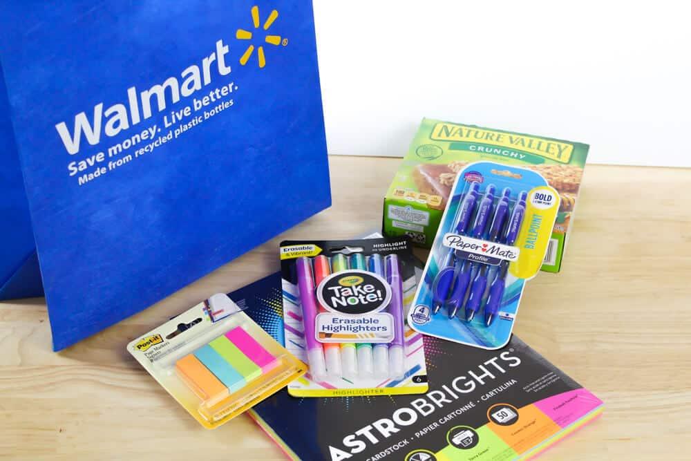 Walmart Teacher Appreciation Event items.