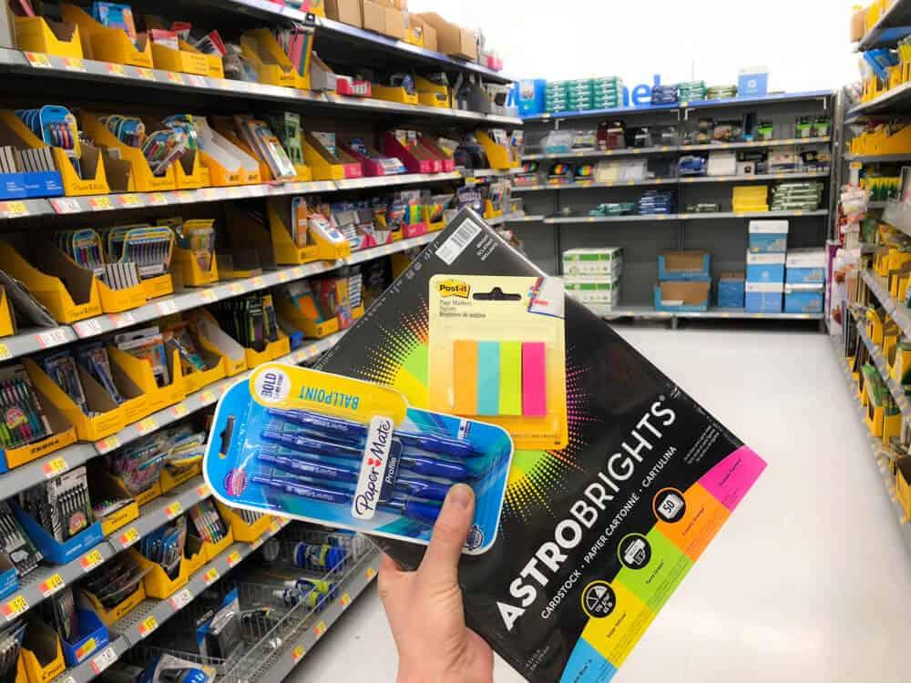 Teacher shops for Walmart appreciation event.
