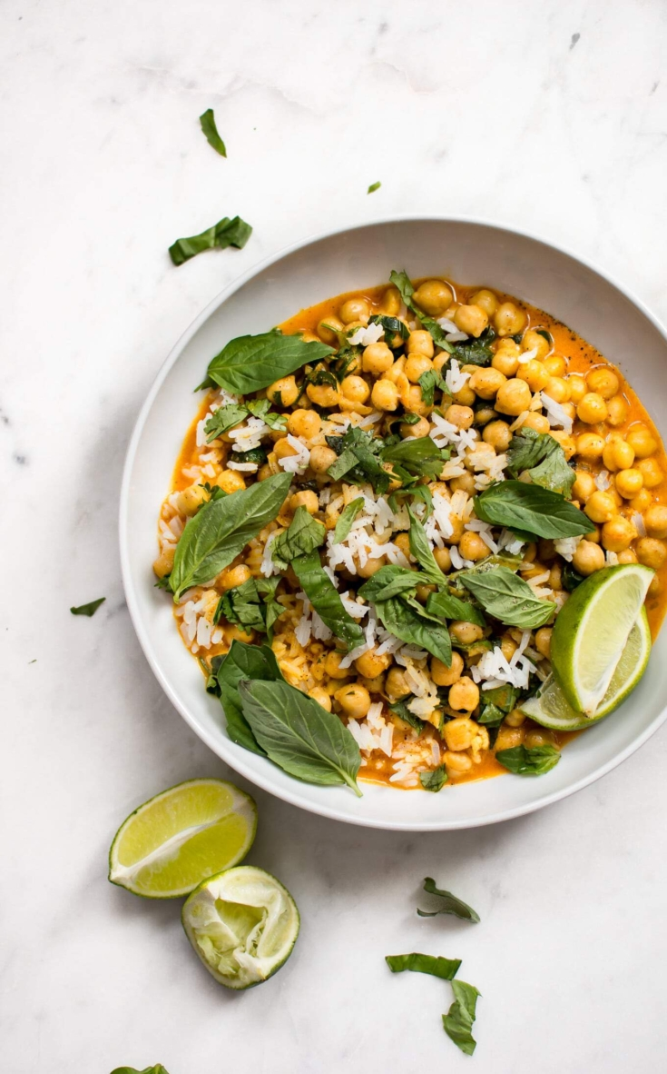 Quick and Easy Chickpea Coconut Curry