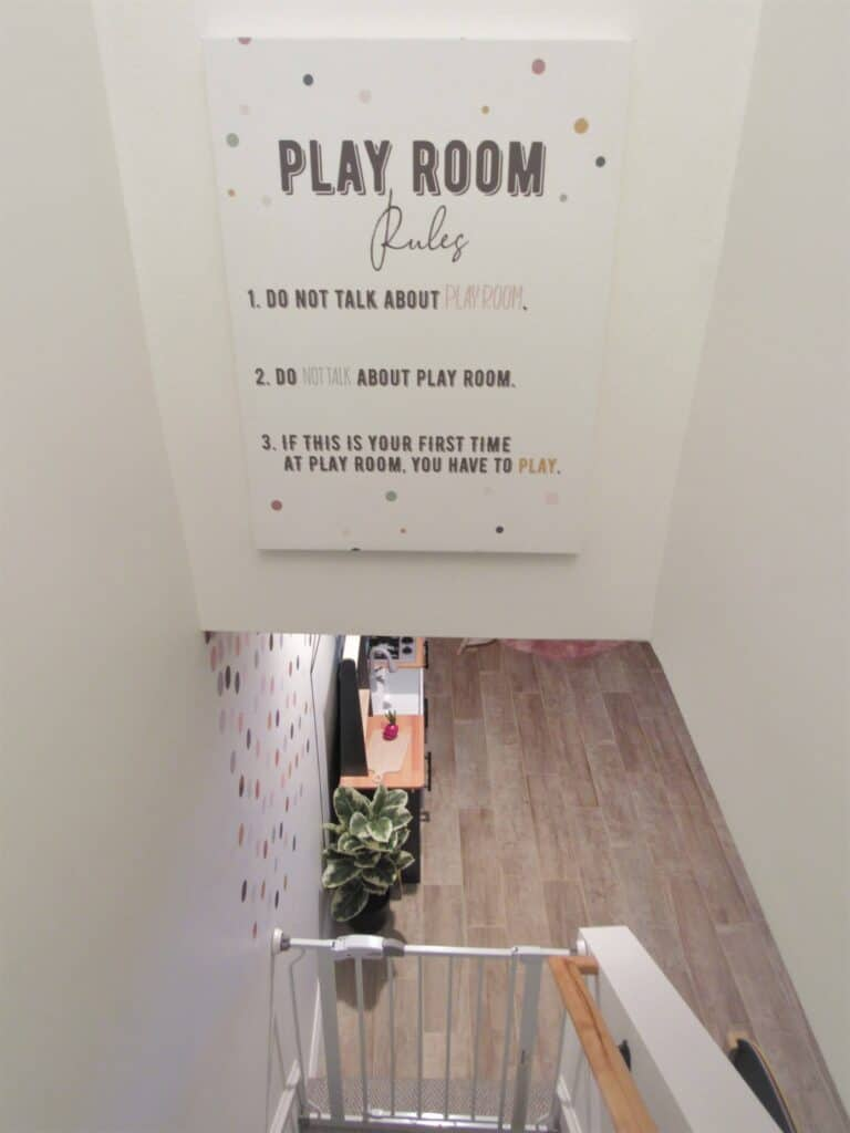 playroom rules funny sign