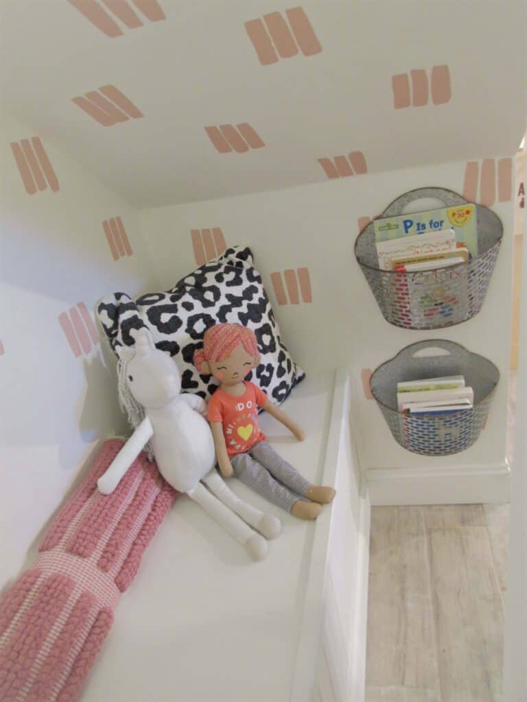 kids' playroom reading nook under the stair