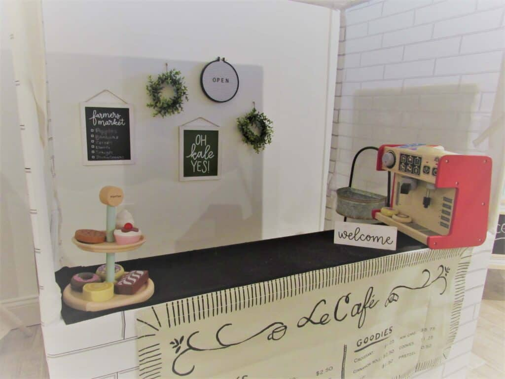 kids coffee stand in playroom
