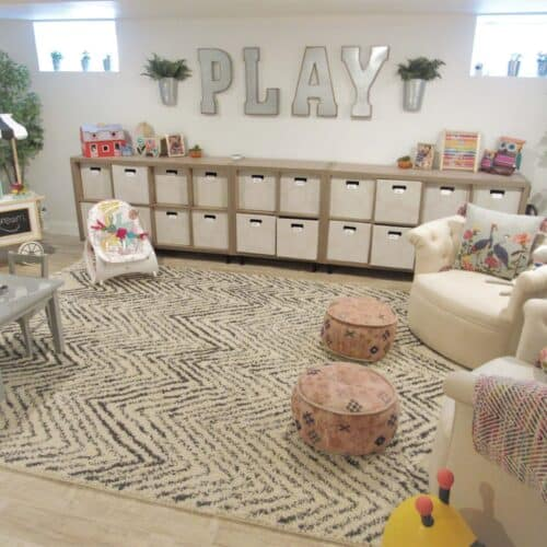 This Whimsical Modern Farmhouse Playroom Is Stuff Dreams Are Made Of