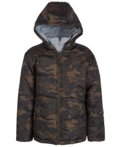 boys camo puffer jacket