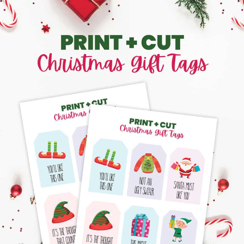 free custom printable holiday tags