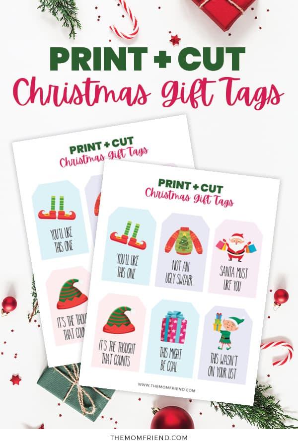 Printable gift tags for christmas with funny sayings.