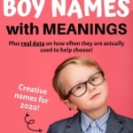 Graphic for Unique Boy Names with meanings.