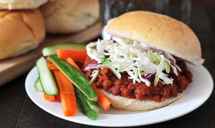 Easy Smoky Lentil Sloppy Joes