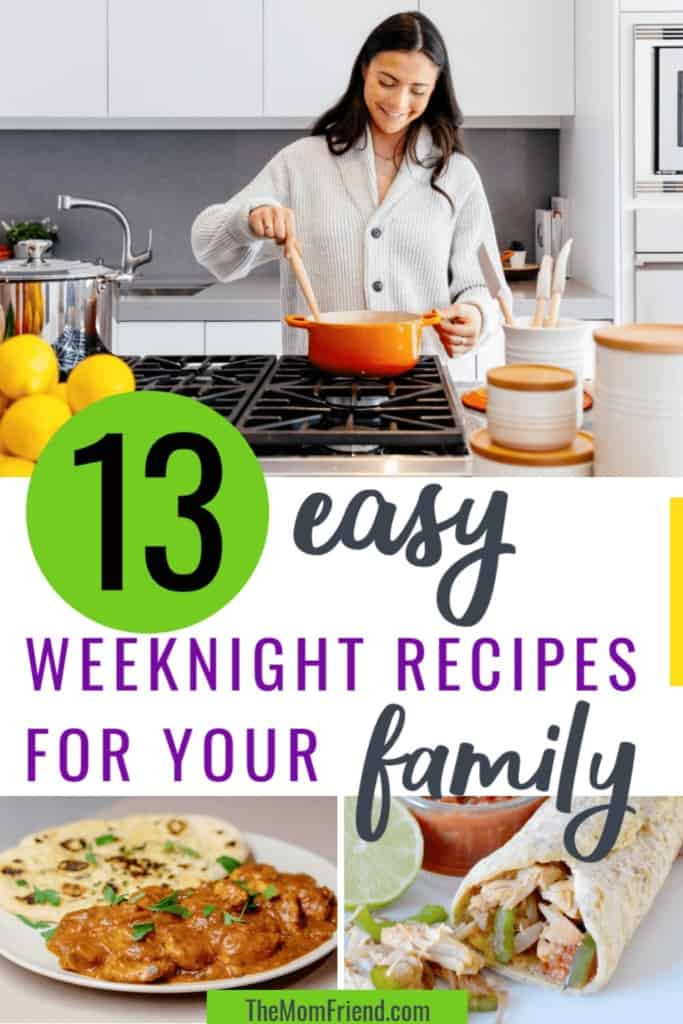 woman cooking dinner with easy meals