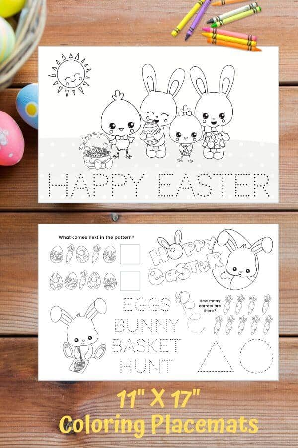 printable easter coloring pages placemats