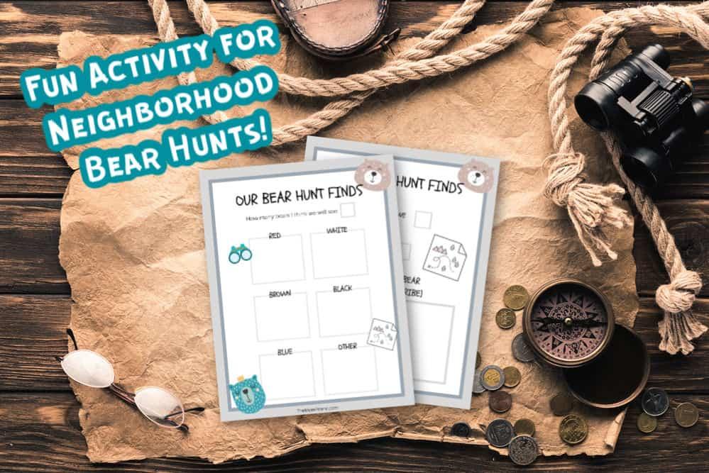 outdoor gear with free printable neighborhood bear hunt tracker