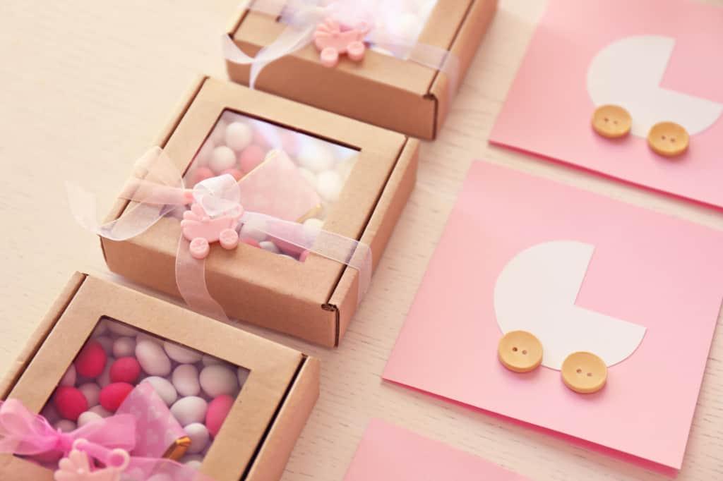 Baby girl gender reveal treats.
