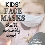 child wearing face mask