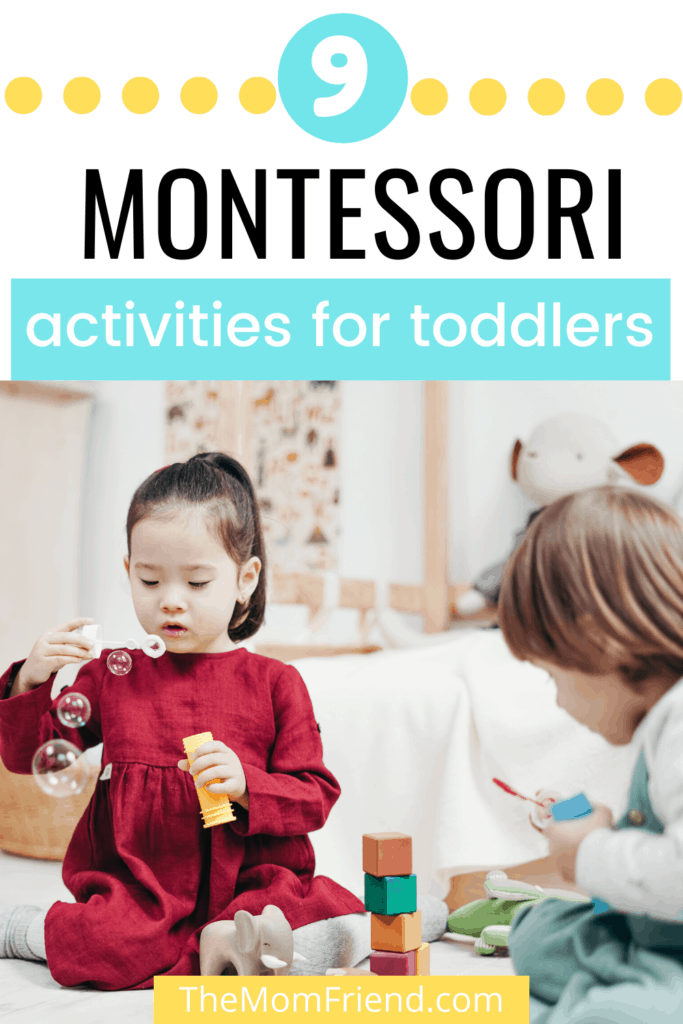 toddlers playing with montessori toys
