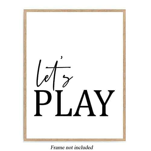 Let's Play Playroom Poster,