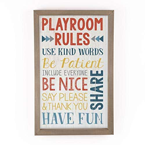 Colorful Playroom Rules Sign