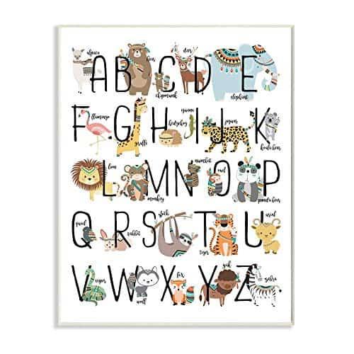 Boho Animal ABCs Wall Plaque