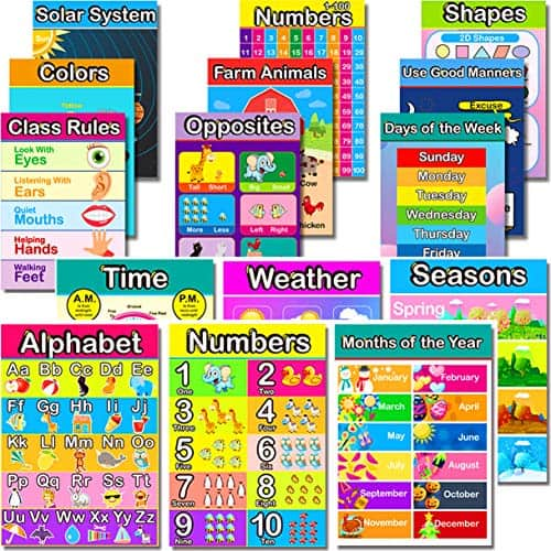 Educational Posters for Homeschooling or Pretend Play
