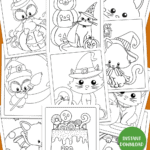cute halloween coloring pages to print displayed on an image