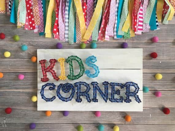 Customizable Kids Corner String Art