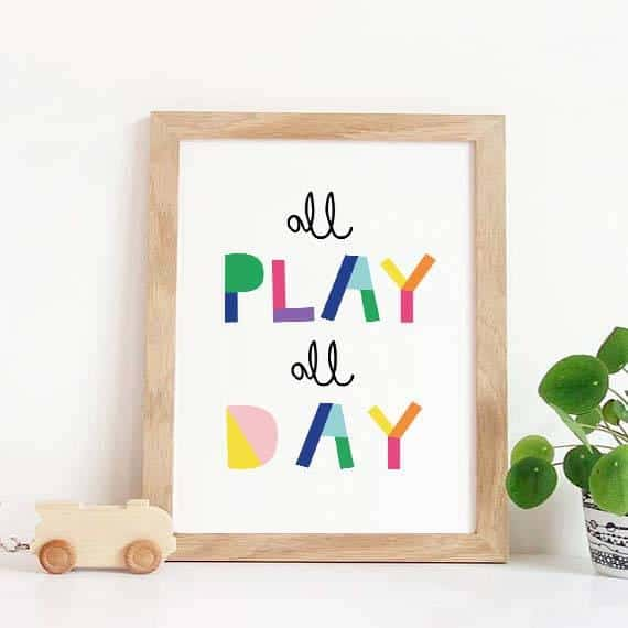 Let's PlayPlayroom Wall Art