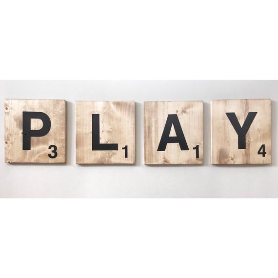 Giant PLAY Scrabble Tile Letters