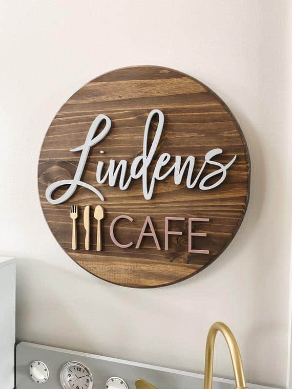 Personalized Kids' Kitchen/ Cafe Sign