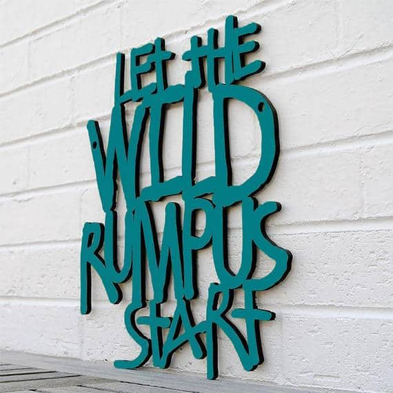Let The Wild Rumpus Start Carved Wood Wall Art