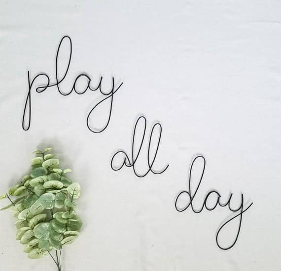 Play all day wire words