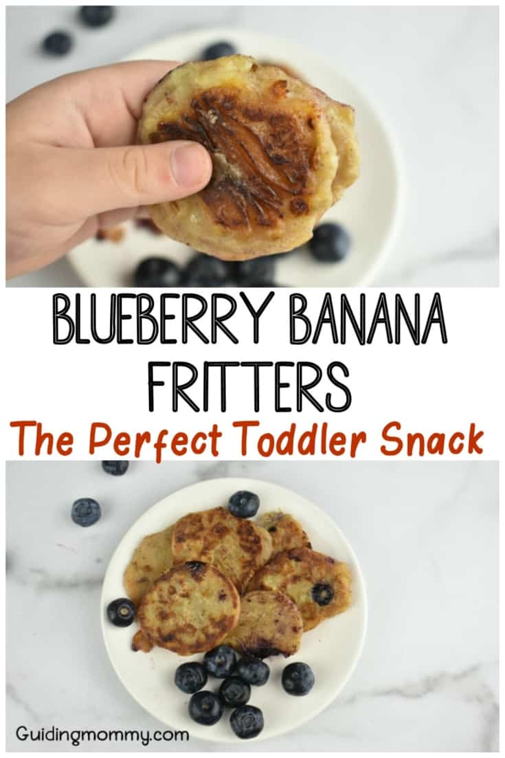 Blueberry Banana Fritters-A Delicious Toddler Snack Recipe