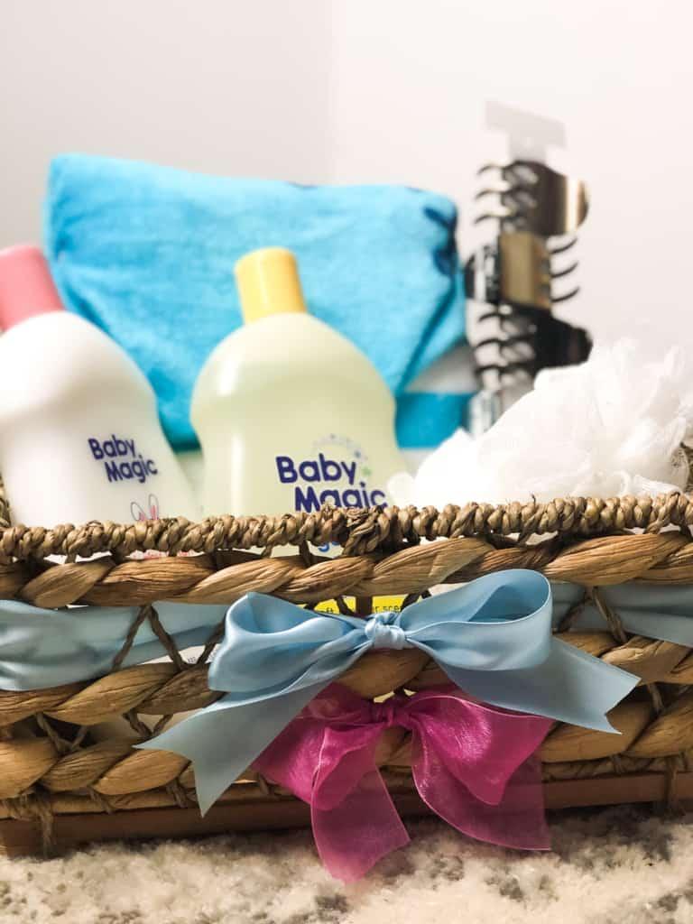 gender reveal gift basket