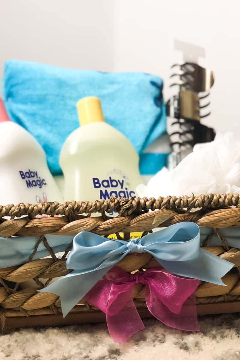 gender reveal gift basket