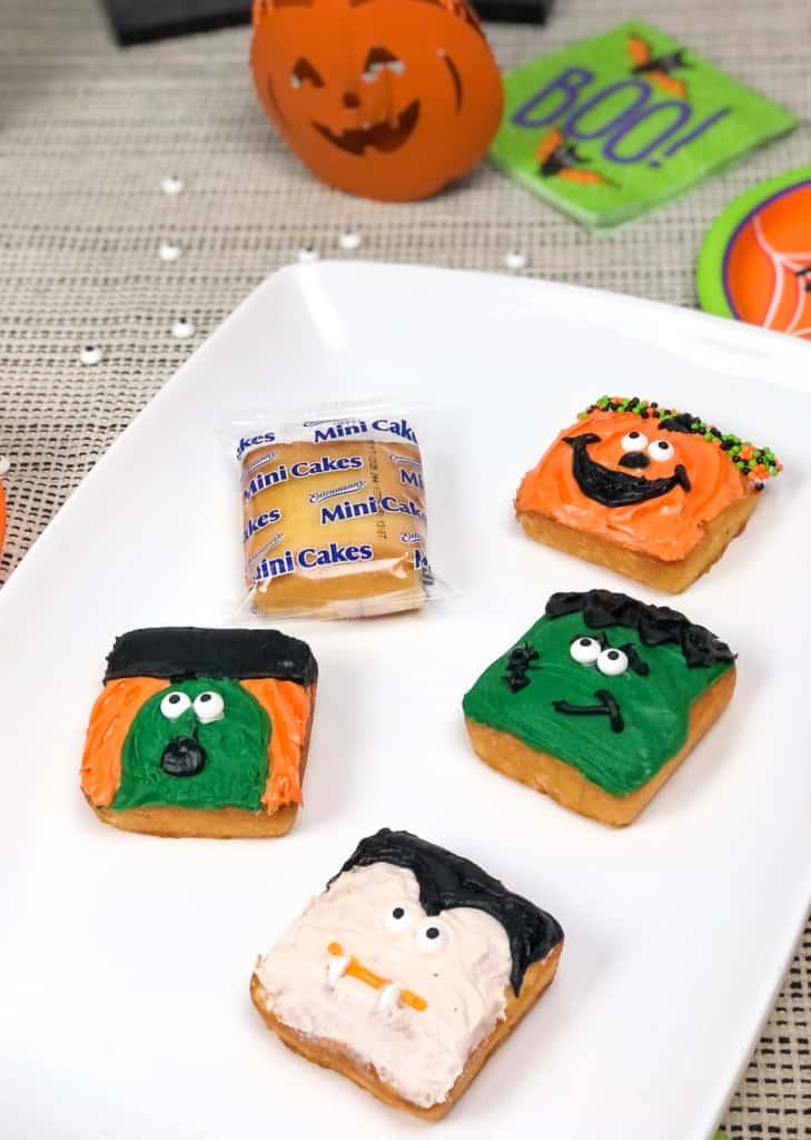 Halloween Cakes on plate.