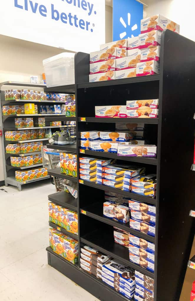 Mini Cakes products on store shelves.